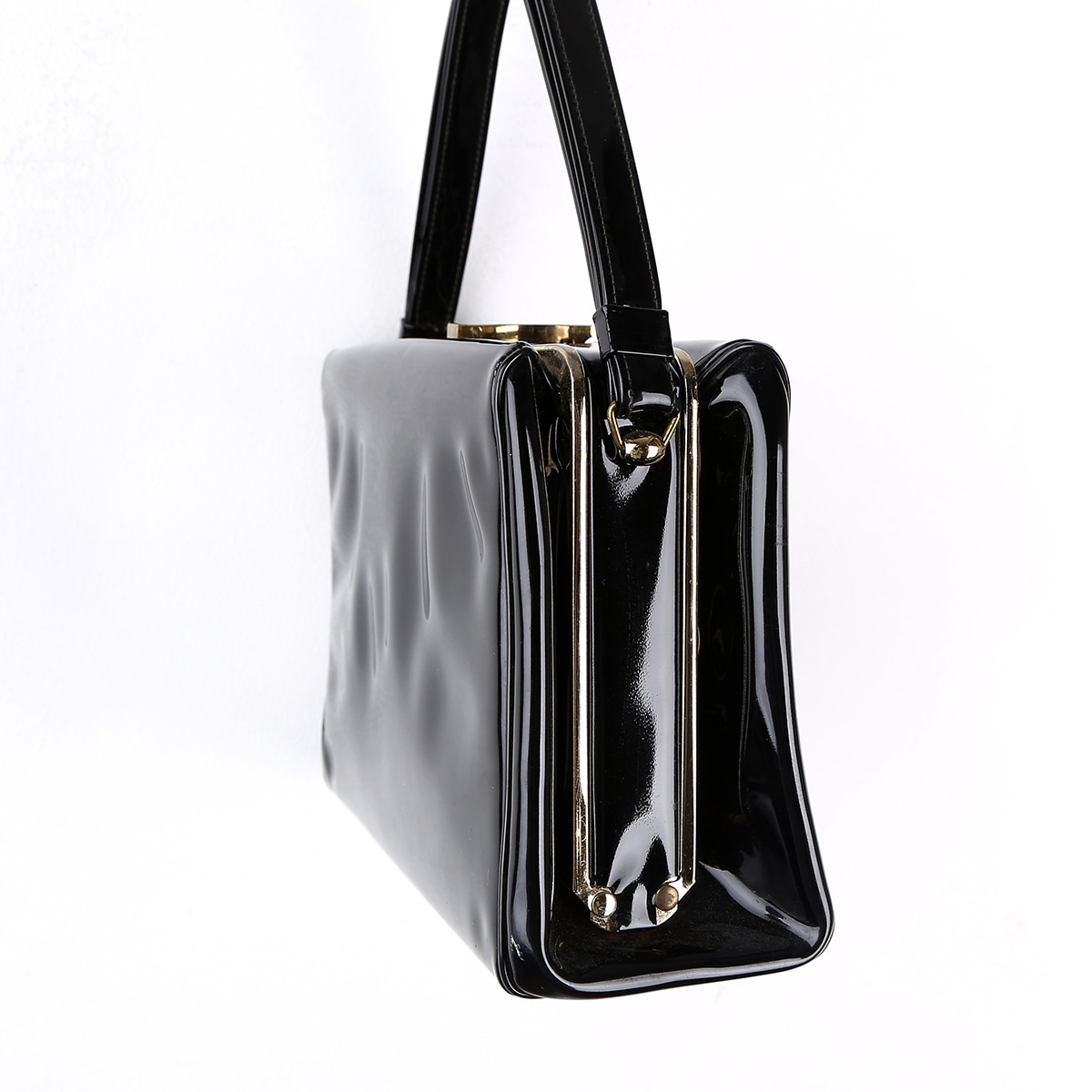 [vintage] Black Patent Leather Bag
